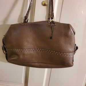 Authentic FENDI Brown leather